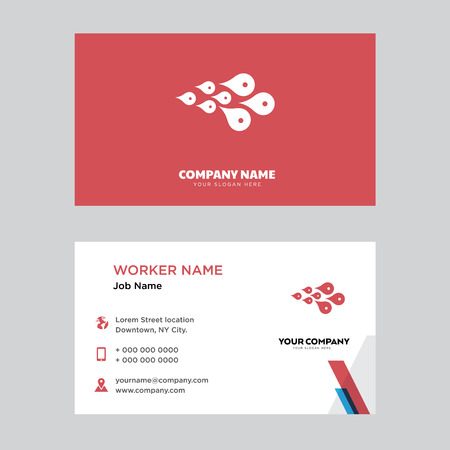 Skin Cells business card design template, Visiting for your company, Modern horizontal identity Card Vector
