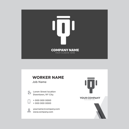 Cable business card design template, Visiting for your company, Modern horizontal identity Card Vector