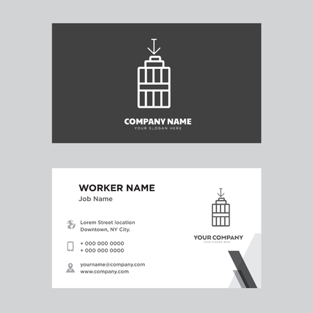 Garbage business card design template. Modern horizontal identity Card Vector.