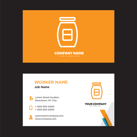 Conserve business card design template, Visiting for your company, Modern horizontal identity Card Vector