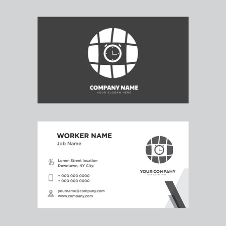 Internet business card design template, Visiting for your company, Modern horizontal identity Card Vector 向量圖像