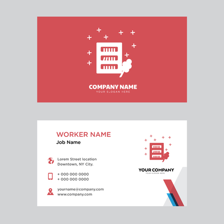 Wardrobe business card design template, Visiting for your company, Modern horizontal identity Card Vector Illustration