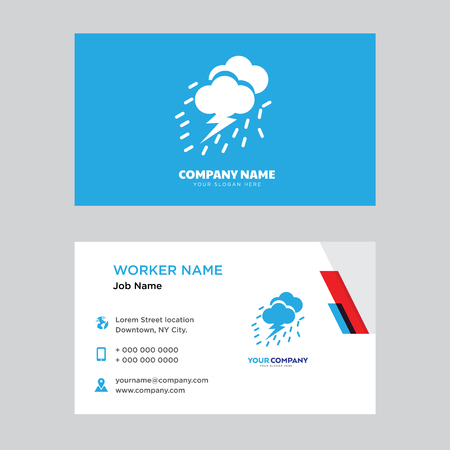 Storm Cloud business card design template, Visiting for your company, Modern horizontal identity Card Vector 矢量图像