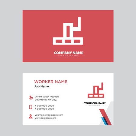 Grand canyon business card design template, Visiting for your company, Modern horizontal identity Card Vector