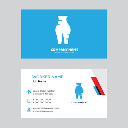 Female Pubis business card design template, Visiting for your company, Modern horizontal identity Card Vector Illustration