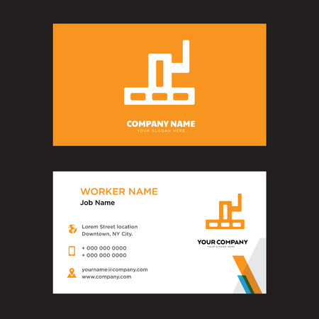 Grand canyon business card design template. Modern horizontal identity Card Vector.