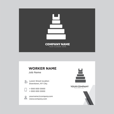 Teotihuacan business card design template. Modern horizontal identity Card Vector.
