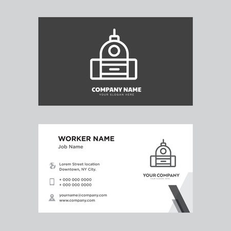 Capitol business card design template, Visiting for your company, Modern horizontal identity Card Vector Çizim