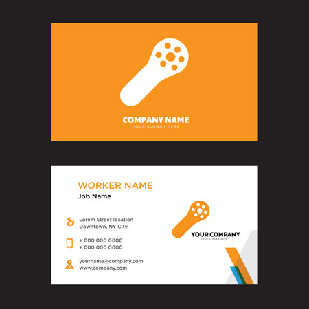 Muscle Fiber business card design template. Modern horizontal identity Card Vector.