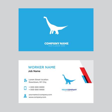 business card design template, Modern horizontal identity Card Vector