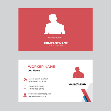 Trump business card design template visiting for your company trump business card design template visiting for your company modern horizontal identity card vector colourmoves