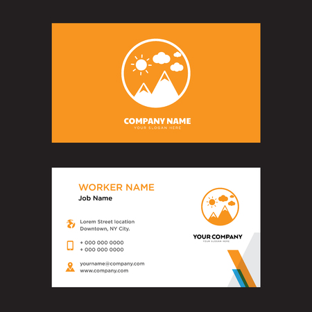 Image business card design template, Visiting for your company, Modern horizontal identity Card Vector