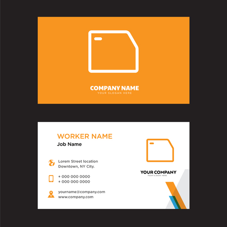 Folder business card design template, Visiting for your company, Modern horizontal identity Card Vector 向量圖像