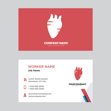 Human Heart business card design template