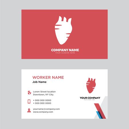 Human Heart business card design template