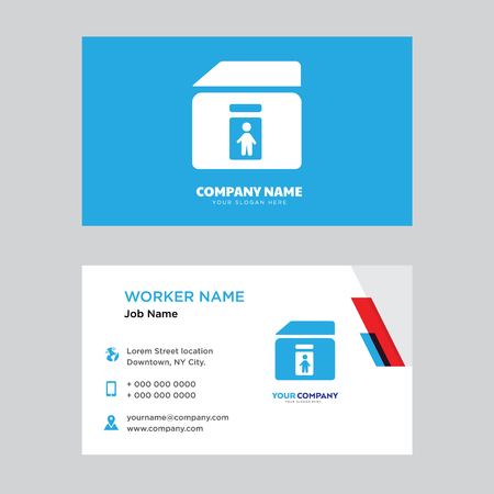 Toilet business card design template, Visiting for your company, Modern horizontal identity Card Vector Illustration