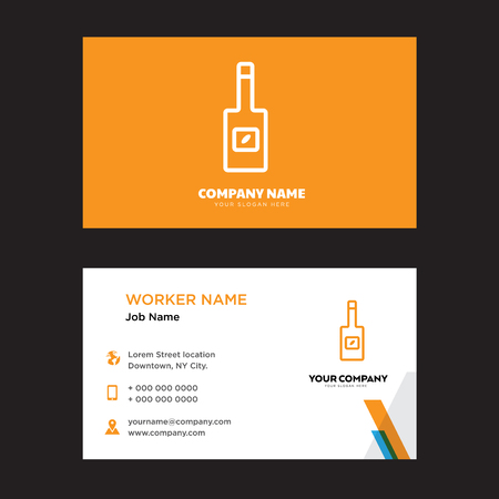 Olive oil business card design template, Visiting for your company, Modern horizontal identity Card Vector