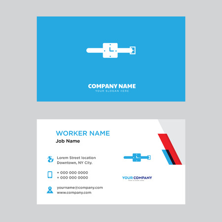 Watch business card design template, Visiting for your company, Modern horizontal identity Card Vector
