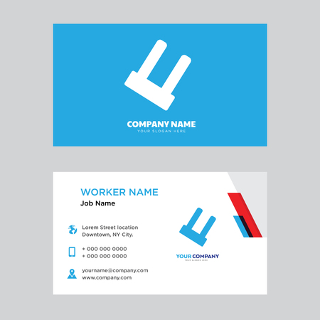 Big Ecological Light Bulb business card design template, Visiting for your company, Modern horizontal identity Card Vector Ilustração