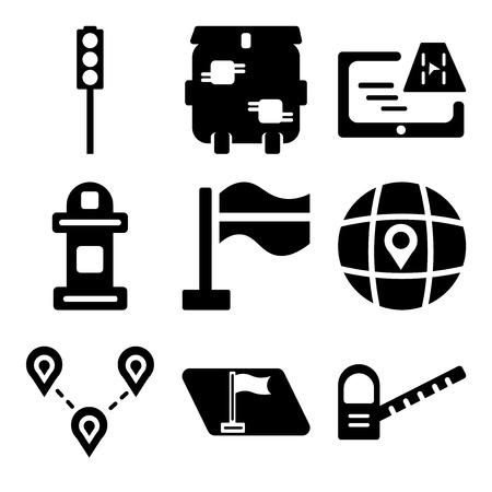 Set Of 9 travel editable icons