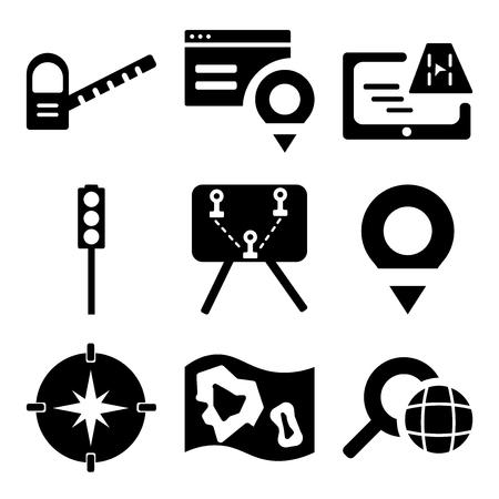 Set of 9 simple editable web icons. 向量圖像