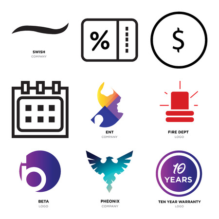 Set Of 9 simple editable icons such as ten years warranty, Pheonix, beta, fire dept, ent, Calendar, USD, dollar, Percent, Black swish, can be used for mobile, web
