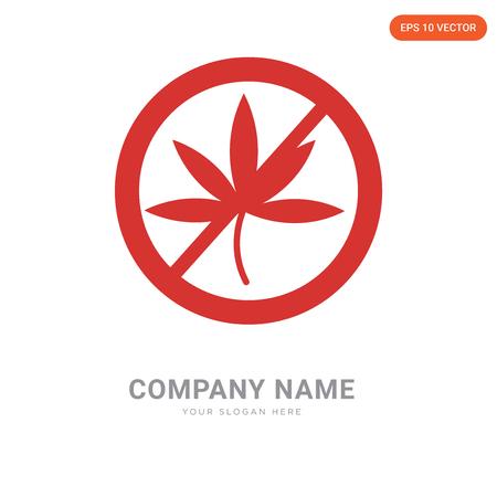 Marijuana company logo design template, Marijuana logotype vector icon, business corporative