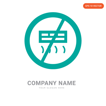 Air conditioner company logo design template, Air conditioner logotype vector icon, business corporative  イラスト・ベクター素材