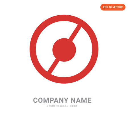 Banned company logo design template, Banned logotype vector icon, business corporative