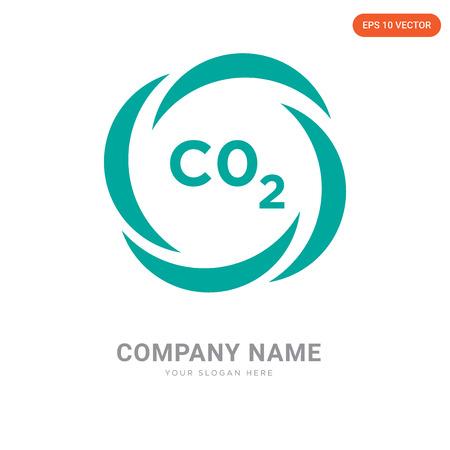 CO2 company logo design template, CO2 logotype vector icon, business corporative
