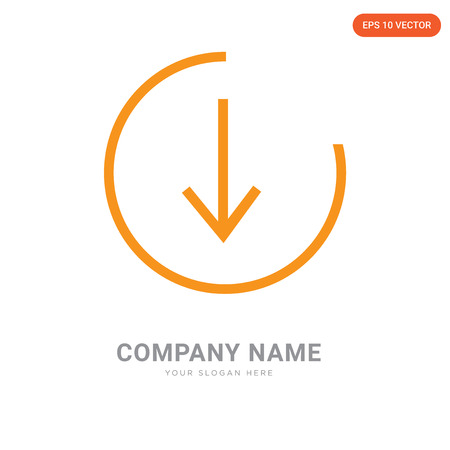 bottom company logo design template, bottom logotype vector icon, business corporative