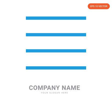 menu company logo design template, menu logotype vector icon, business corporative Logo
