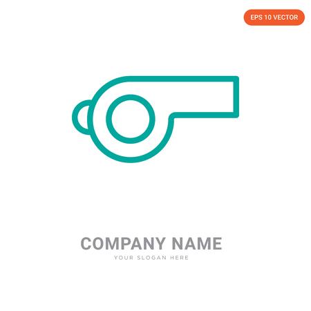 Plantilla de diseño de logotipo de empresa de silbato, icono de vector de logotipo de silbato, empresa corporativa
