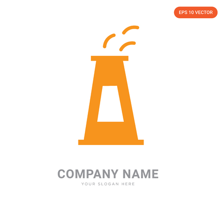 Nuclear plant company logo design template, Nuclear plant logotype vector icon, business corporative