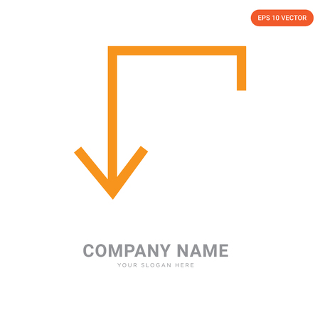 down company logo design template, down logotype vector icon, business corporative Reklamní fotografie - 105155900