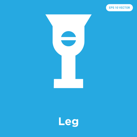 Leg vector icon isolated on blue background, sign and symbol, Leg icons collection