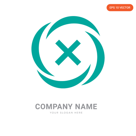 Danger company logo design template, Danger logotype vector icon, business corporative