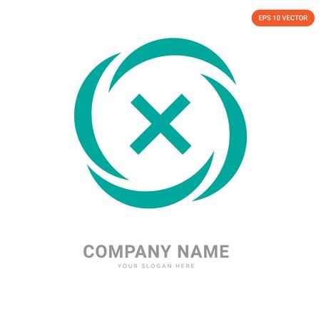 Danger company logo design template, Danger logotype vector icon, business corporative