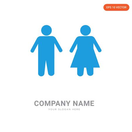 Men and Women Toilet company logo design template, Men and Women Toilet logotype vector icon, business corporative