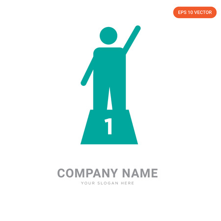 Podium company logo design template, Podium logotype vector icon, business corporative