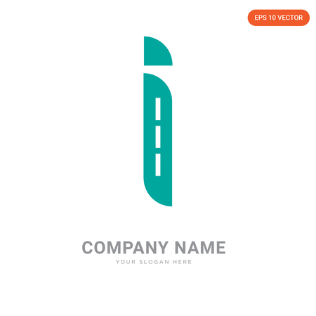 Info company logo design template, Info logotype vector icon, business corporative Illusztráció