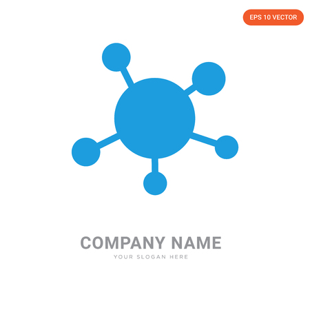 Virus company logo design template, Virus logotype vector icon, business corporative