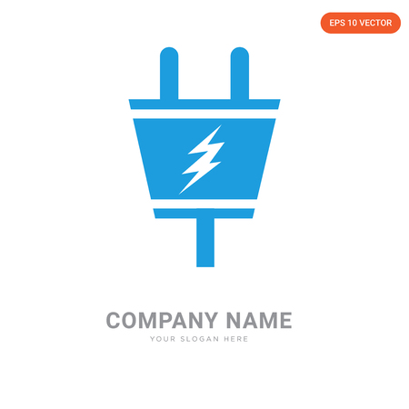 Electric Plug company logo design template, Electric Plug logotype vector icon, business corporative