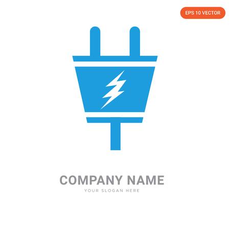 Electric Plug company logo design template, Electric Plug logotype vector icon, business corporative