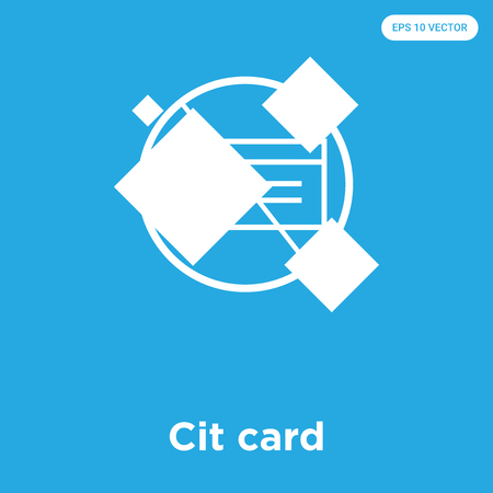 Cit card vector icon isolated on blue background, sign and symbol, Cit card icons collection Illusztráció