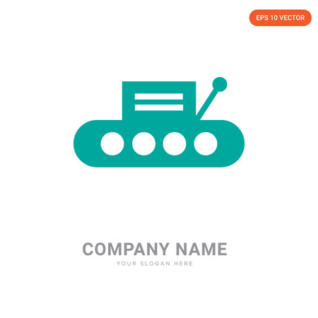 Conveyor company logo design template, Conveyor logotype vector icon, business corporative