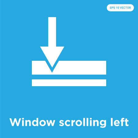 Window scrolling left vector icon isolated on blue background, sign and symbol, Window scrolling left icons collection Reklamní fotografie - 105153881