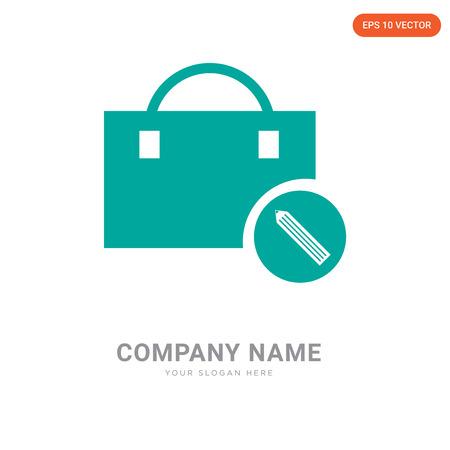 Plantilla de diseño de logotipo de empresa de cartera, icono de vector de logotipo de cartera, empresa corporativa