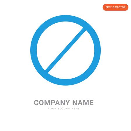 Prohibition company logo design template, Prohibition logotype vector icon, business corporative