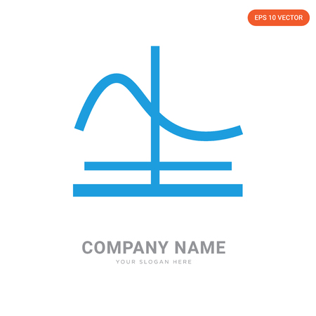 Gaussian function company logo design template, Gaussian function logotype vector icon, business corporative